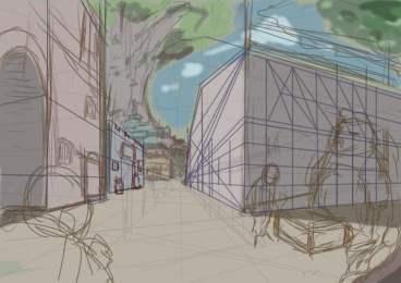 建物描くの嫌いじゃないのだけど、たぶん上手に描けないのが嫌で避けてるんだと。